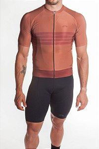 Camisa Ciclismo Masculina Aero 2019 Marrom