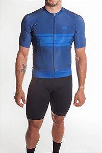 Camisa Ciclismo Masculina 2019 Aero Azul
