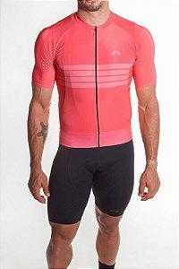 Camisa Ciclismo Masculina Aero 2019 Coral