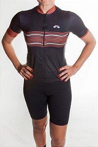 Camisa Ciclismo Feminina 2019 Basic Preto Marrom