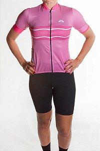 Camisa Ciclismo Feminina 2019 Basic Rosa Pink