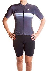 Camisa Ciclismo Feminina Sport Grafite