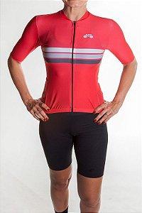 Camisa Ciclismo Feminina Sport Vermelho