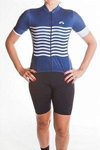 Camisa Ciclismo Feminina 2019 Basic Azul Marinho
