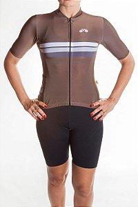 Camisa Ciclismo Feminina Sport Ferrugem