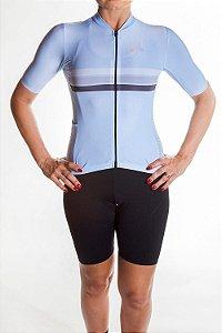 Camisa Ciclismo Feminina Sport Azul Bebê
