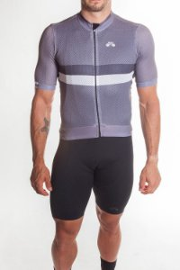 Camisa Ciclismo Masculina Premium Cinza