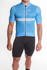 Camisa Ciclismo Masculina Premium Azul