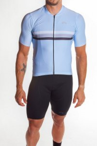 Camisa Ciclismo Masculina Sport Azul Bebê