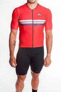 Camisa Ciclismo Masculina Sport Vermelho