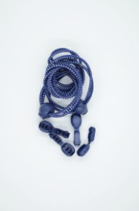Cadarço Elástico para Corrida Azul Marinho