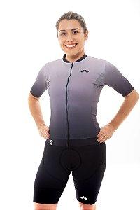 Camisa Ciclismo Feminina 2020 Elite Degradê Cinza