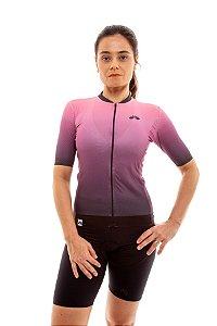 Camisa Ciclismo Feminina 2020 Elite Degradê Rosa