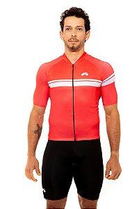 Camisa Ciclismo Masculina 2020 Basic Faixas Vermelha