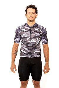 Camisa Ciclismo Masculina 2020 Basic Camuflada Cinza