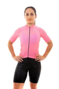 Camisa Ciclismo Feminina 2020  Sport Op Art Rosa