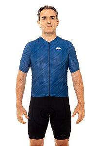 Camisa Ciclismo Masculina 2020 Sport Op Art Azul Marinho