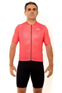 Camisa Ciclismo Masculina 2020 Sport Op Art Coral