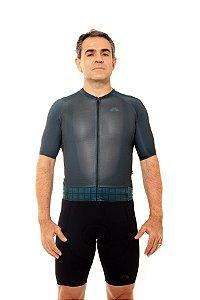 Camisa Ciclismo Masculina 2020 Aero Grafismo Verde