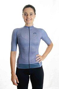 Camisa Ciclismo Feminina Aero 2020 Linho Azul