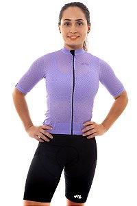 Camisa Ciclismo Feminina 2020 Premium Lilás
