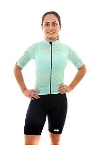 Camisa Ciclismo Feminina 2020 Premium Verde