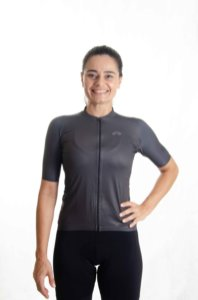 Camisa Ciclismo Feminino Basic 2021 Colors Grafite