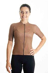 Camisa Ciclismo Feminino Basic 2021 Colors Ferrugem