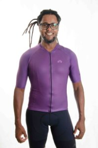 Camisa Ciclismo Masculina Basic 2021 Colors Uva