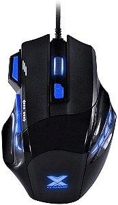 Mouse Vx Gaming Black Widow 2400 Dpi Ajustavel e 06 Botões Preto Com Azul Usb - Gm104, Vinik,