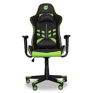 Cadeira Gamer Prime - X Preto/Verde
