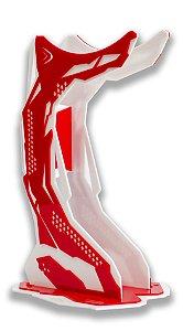 Suporte Para Headset - Branco/Vermelho