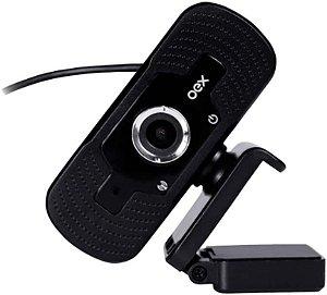 Webcam Pro Full Hd Video Live Mic Usb Oex W100