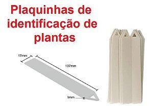 Plaquinhas de Identificação de Plantas - 100 unidades