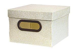 Caixa Organizadora 20x20cm Pp Secrets Ouro - Dello