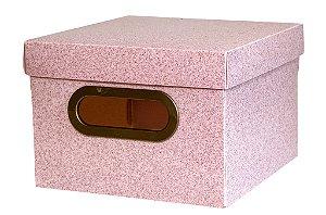 Caixa Organizadora 20x20cm Pp Secrets Rosa - Dello