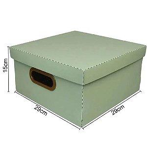Caixa Organizadora Linho Med Verde - Dello