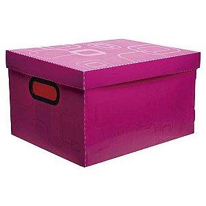 Caixa Organizadora N/02 Pequena Rosa Pink - Dello