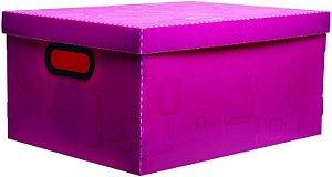 Caixa Organizadora N/4 Grande Rosa Pink - Dello