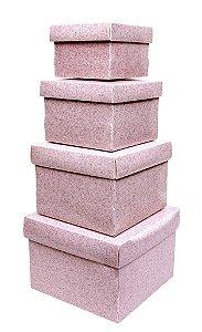 Mini Caixa Organizadora C/4 Secrets Rosa - Dello
