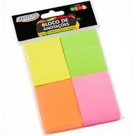 Bloco Anotacao 38x51mm 100f Neon Colorido - Brw