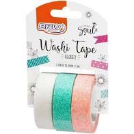 Fita Adesiva C/3 15mmx3m Washi Tape Glossy - Brw