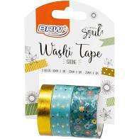 Fita Adesiva C/3 3m Washi Tape Shine Verde - Brw