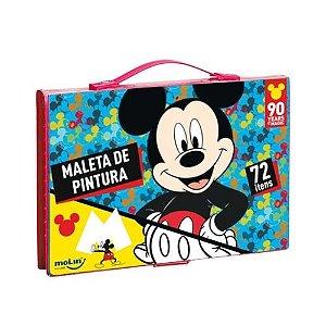 Maleta De Pintura C/72 Itens Mickey - Molin