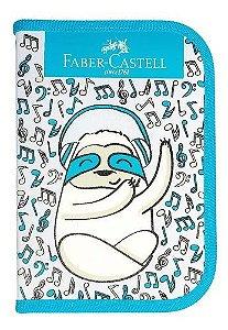 Estojo Escolar Bicho Preguica Azul - Faber
