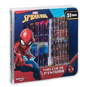 Maleta De Pintura C/51 Itens Sq Spiderman - Molin