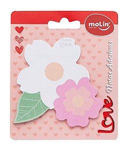 Bloco Notas 25f Love Flores Duplas - Molin