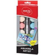 Estojo C/12 Aquarela Metalica + Pincel - Molin