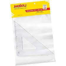 Esquadro 45 Graus 26cm New Line Cristal - Waleu