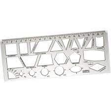 Regua Geometrica Liso Cristal - Waleu